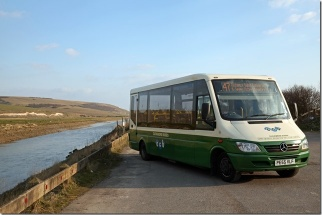Service 47 beside Cuckmere River, Exceat.